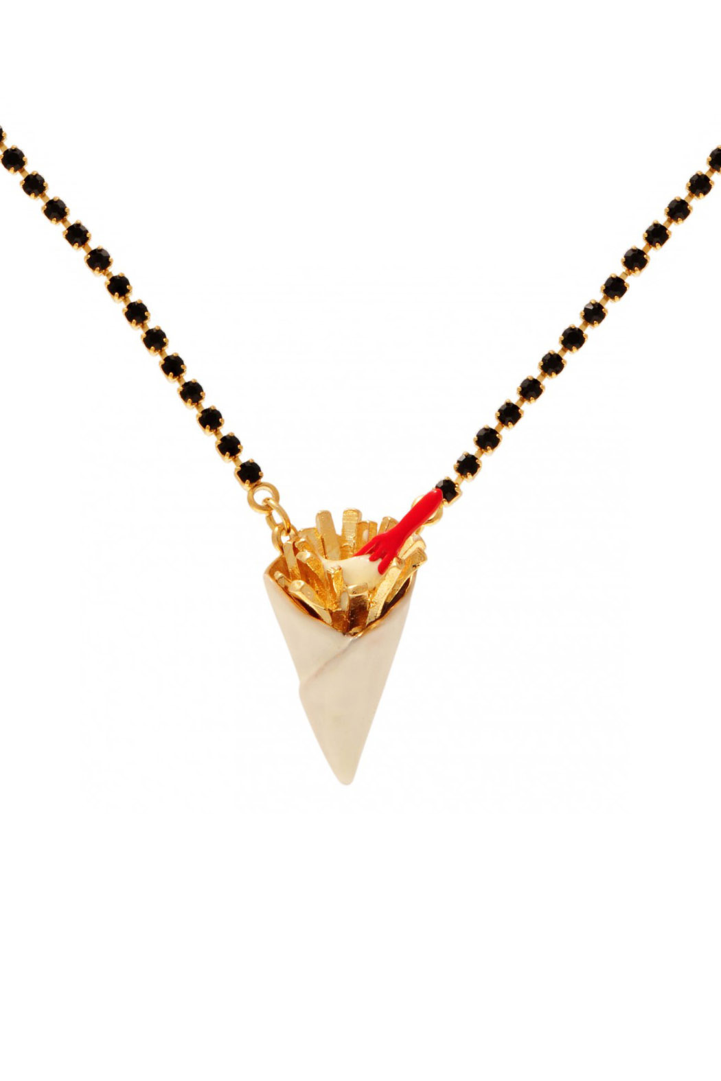 N2 Golden Fries Necklace - Main Image