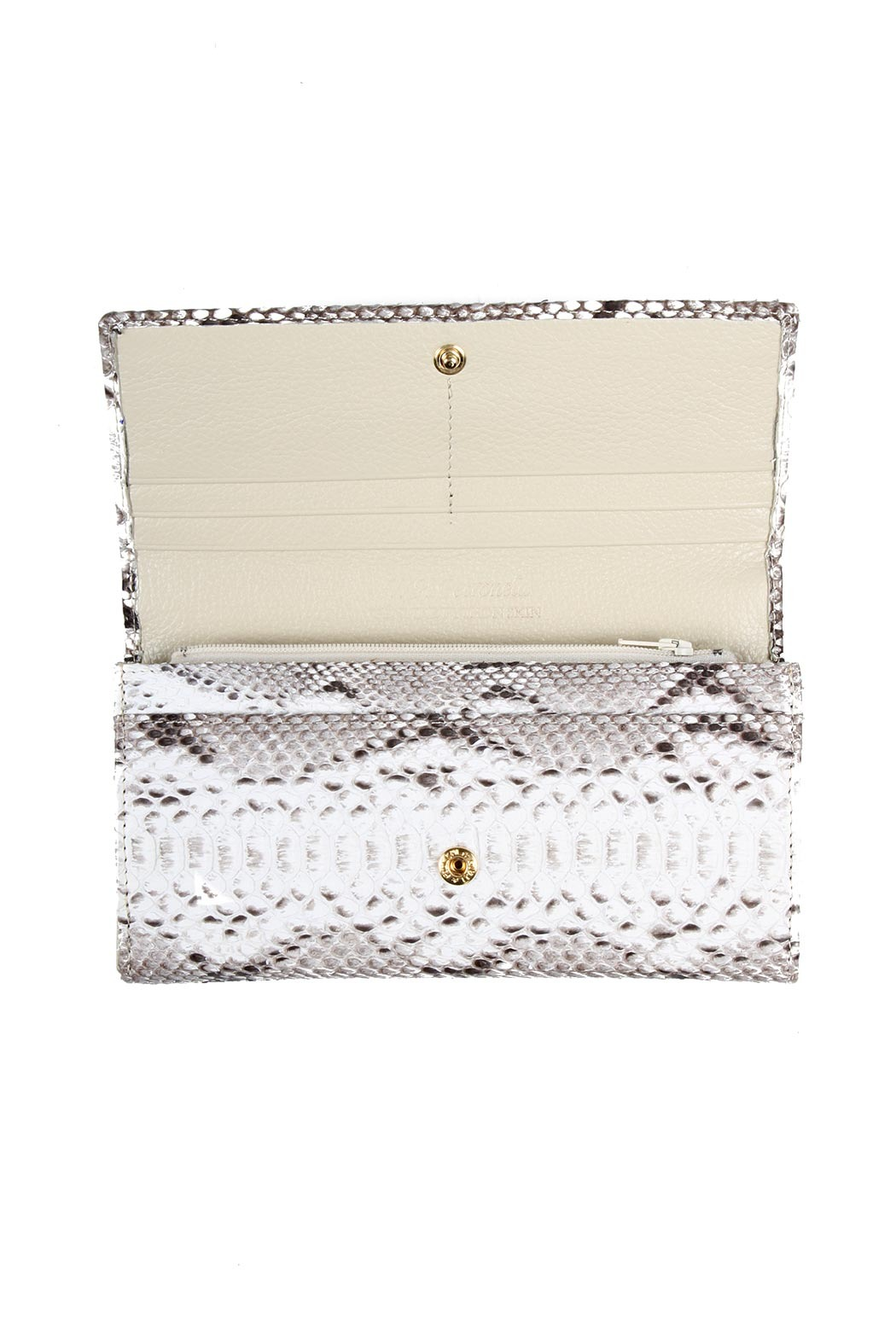 W.H. Petronela Python Wallet - Front Full Image