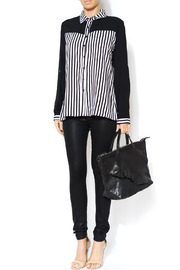 Shoptiques Product: Vertical Stripe Blouse - Front full body