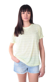 Shoptiques Product: Silver Thread Stripe T-Shirt