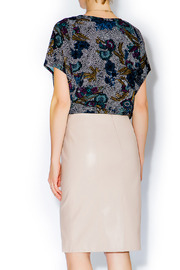 C. Luce Blush Leather Pencil Skirt - Other