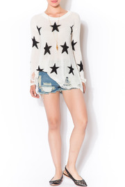 Shoptiques Product: Star Shredded Sweater - Front full body