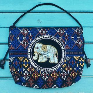 Shoptiques Elephant Bead Bag