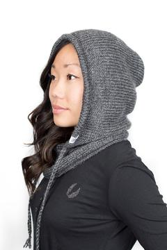 Shoptiques Product: Grey Hooded Cowl