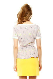 Yumi Atomic Peplum Blouse - Back cropped