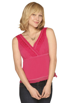 Studio Hot Pink Lace Top - Product List Image