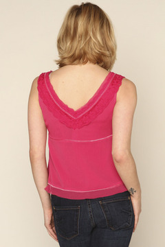 Studio Hot Pink Lace Top - Alternate List Image