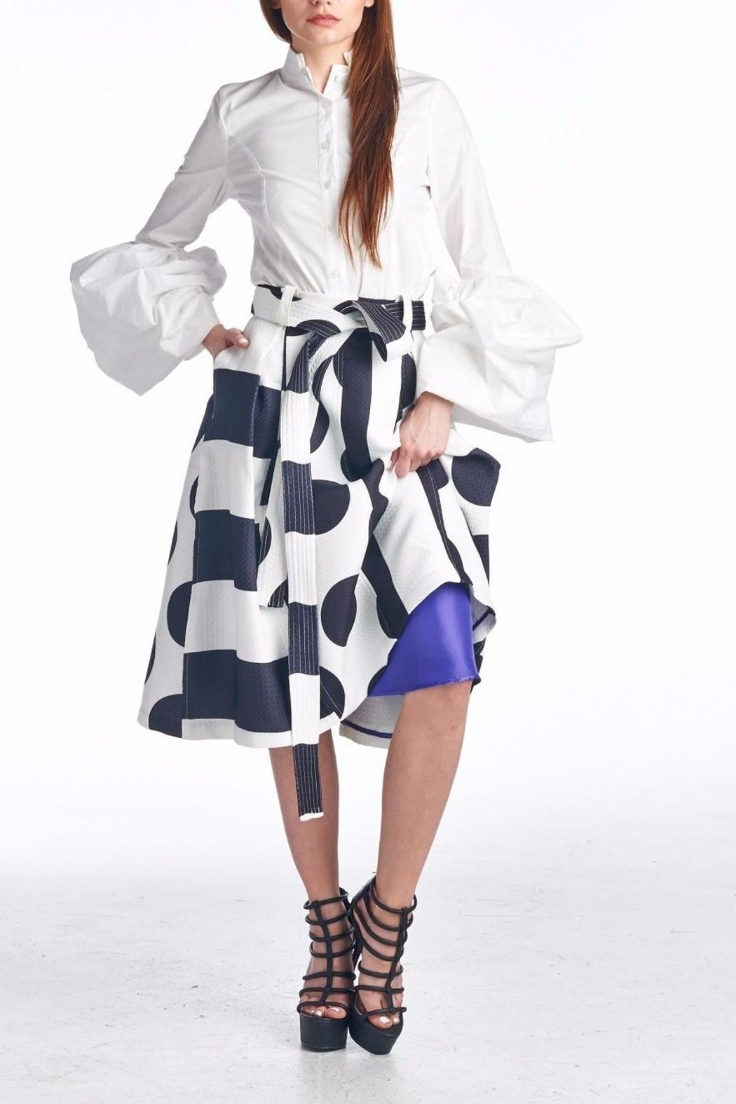 TOV Geometric Swing Skirt - Front Cropped Image