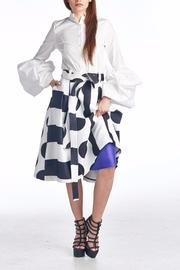 TOV Geometric Swing Skirt - Front cropped