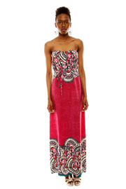 Shoptiques Product: Strapless Print Maxi Dress
