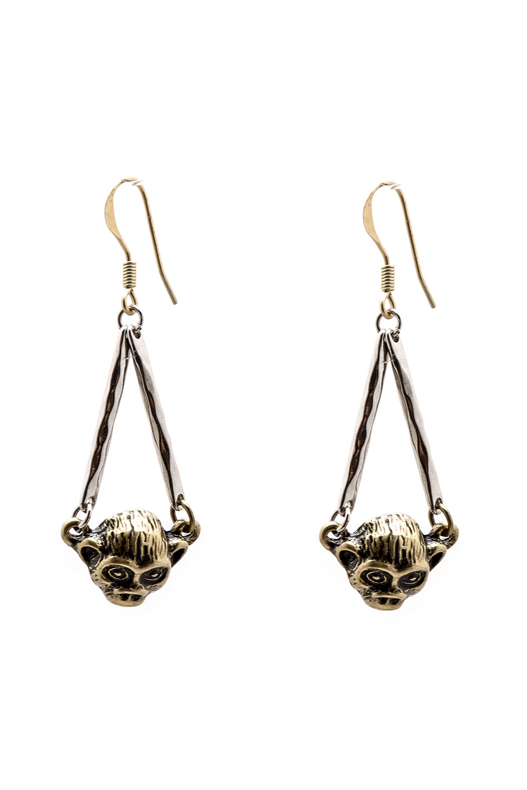 Andrew Tessier Designs Two Tone Jumanji Earrings - Large