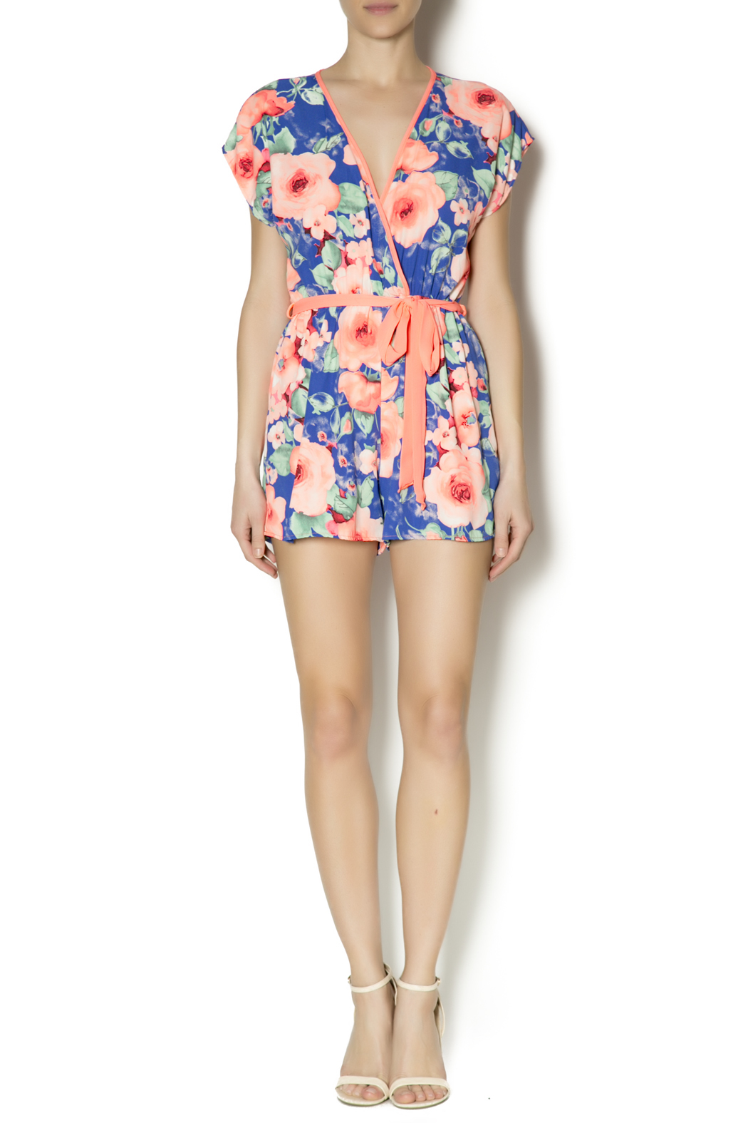 Lac Bleu Flowered Neon Romper from Texas by Ale's Closet ...