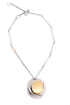 Shoptiques Product: Necklace Silver Circle