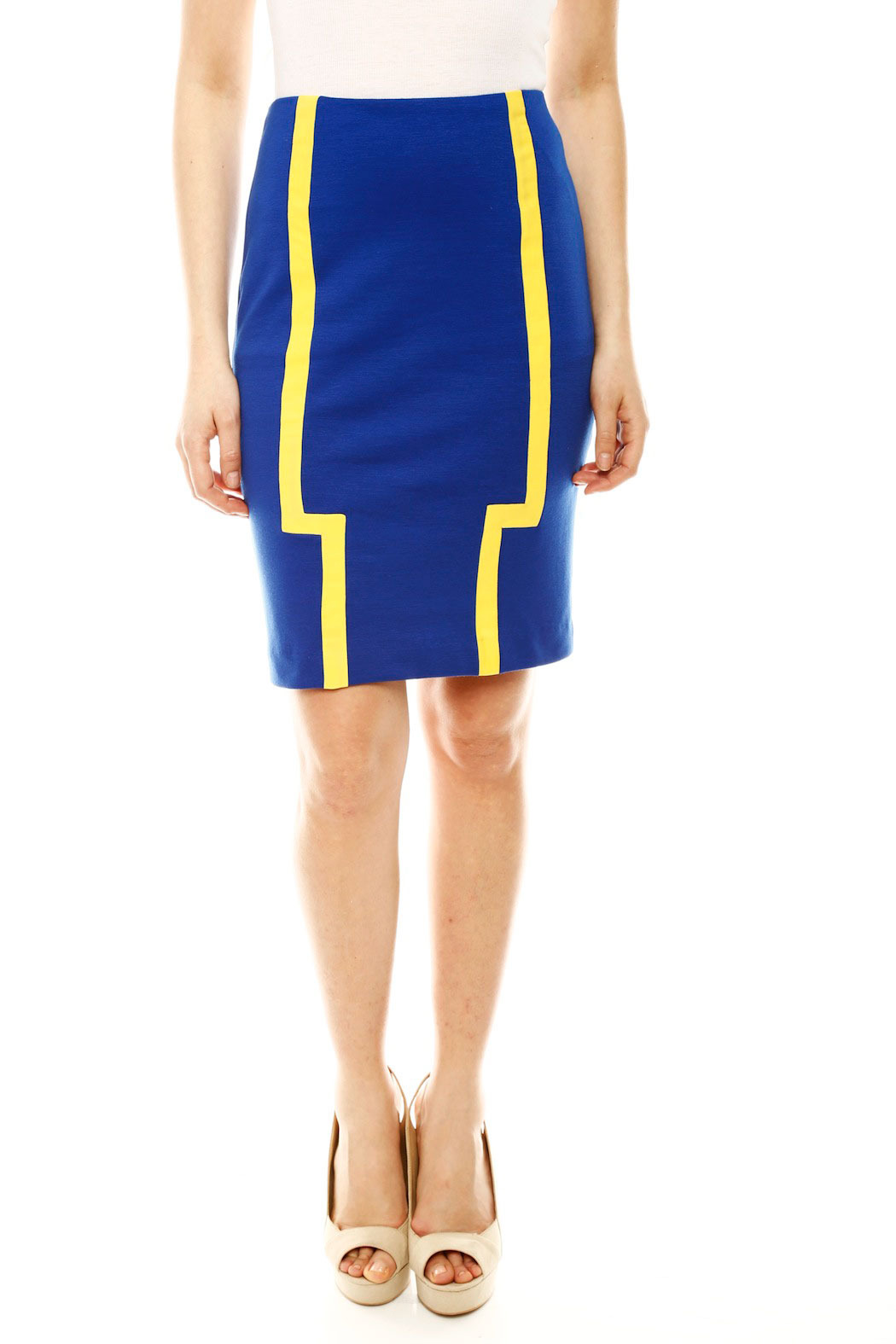 DANIELA CORTE Knit Pencil Skirt - Front Cropped Image