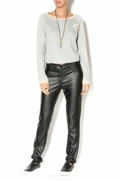 Uldahl Fitted Faux Leather Pant - Alternate List Image