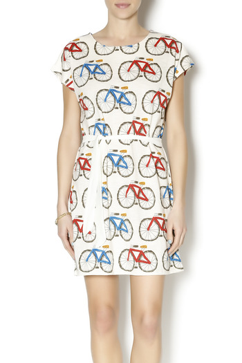 Pinkyotto Bicycle Shift Dress - Main Image