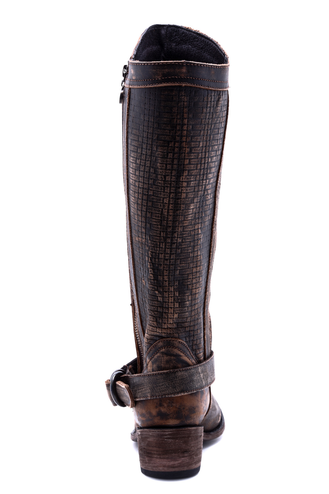 Liberty Black Vintage Distressed Boot - Front Full Image