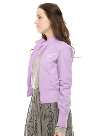 Shoptiques Product: Solid Bomber Jacket - Side cropped