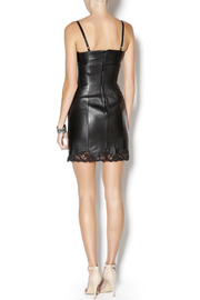 West Coast Leather Sweetheart Lace Leather Dress - Side cropped
