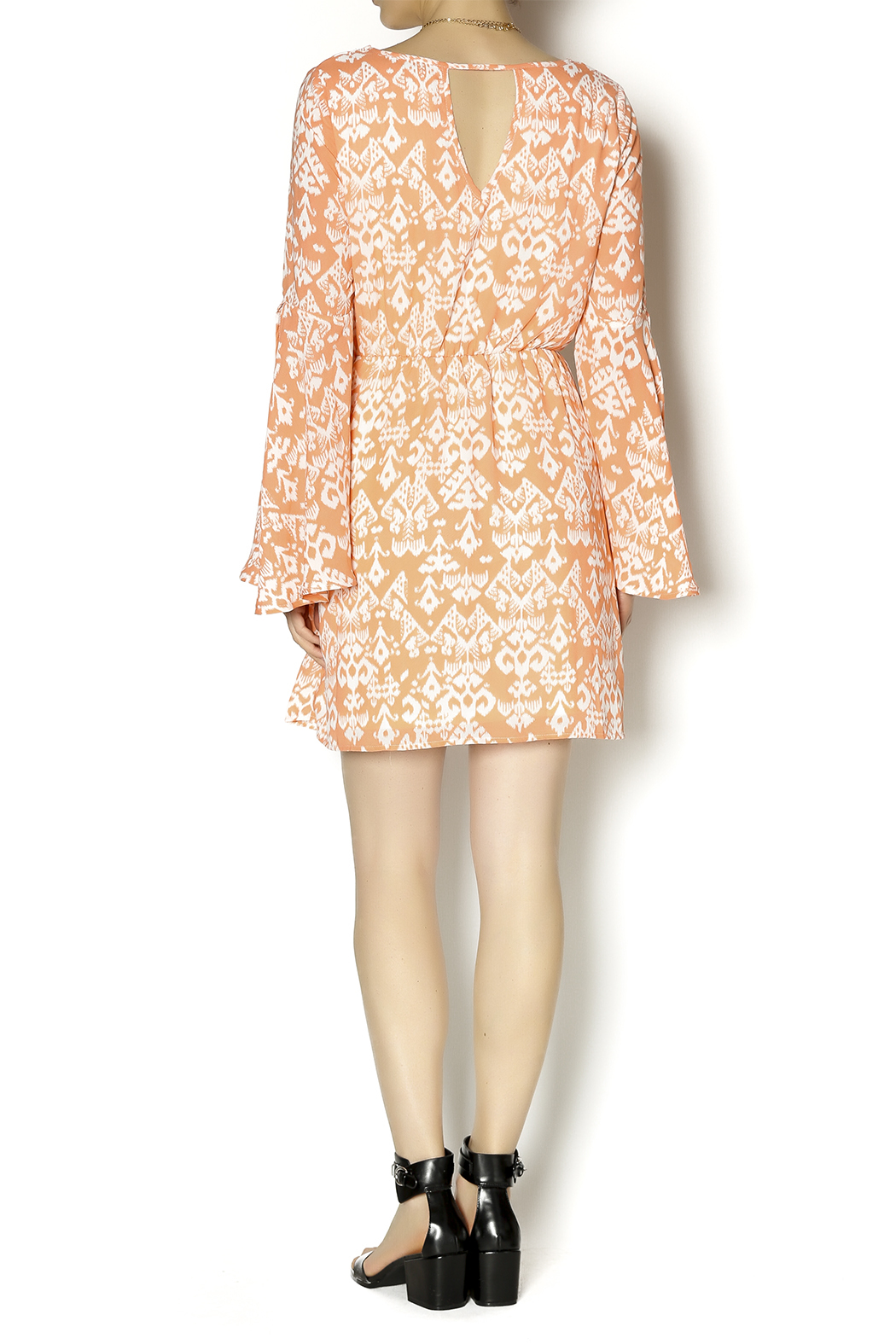 KLD Signature Bell Sleeve Dress - Side Cropped Image