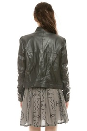 Members Only Basic Leather Jacket - Back cropped