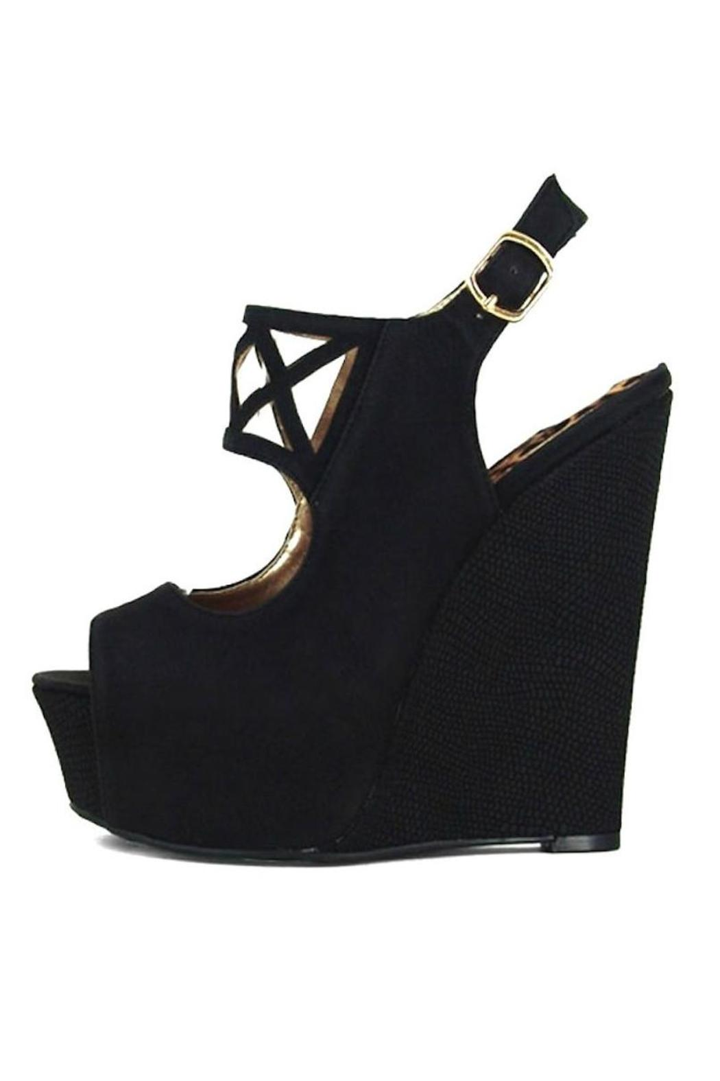 Qupid Cut Out Wedges - Main Image