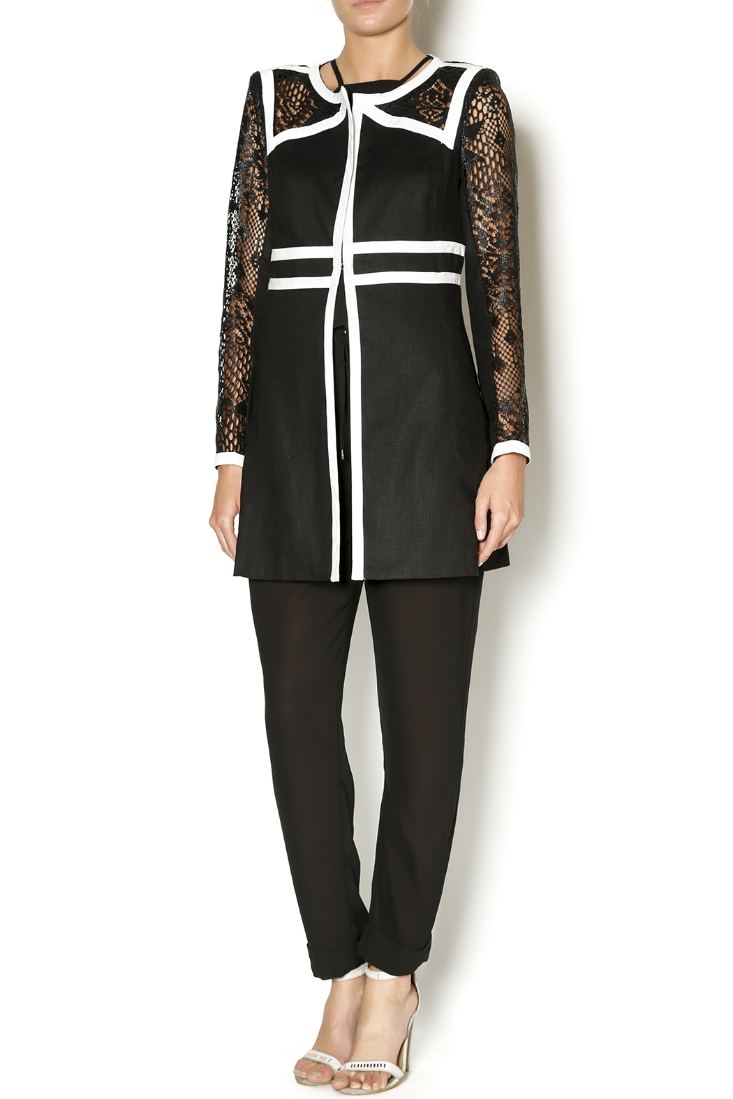 Insight Lace Inset Jacket - Front Full Image