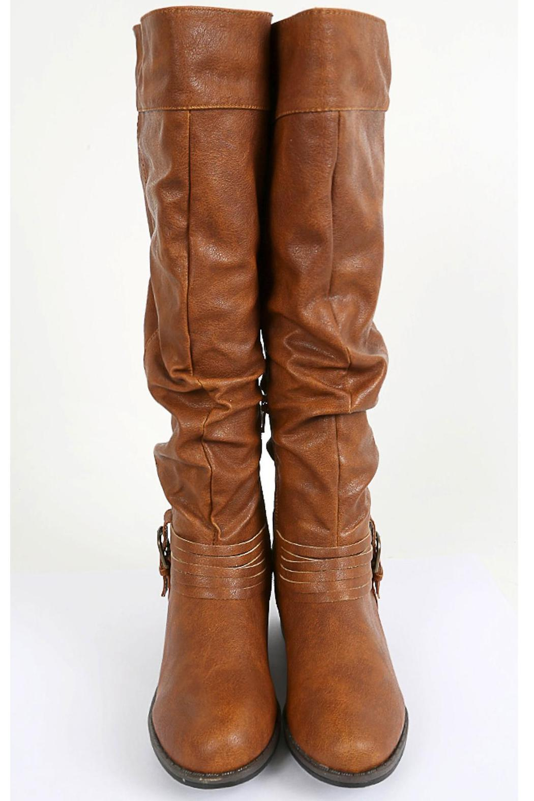 Bamboo Buckled & Belted Knee-High - Front Full Image