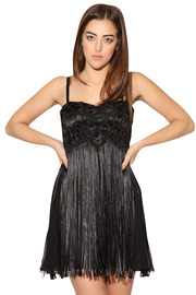 Shoptiques Product: Embroidered Fringe Dress