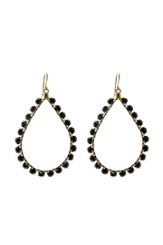 KTCollection Beaded Black Teardrops - Product Mini Image