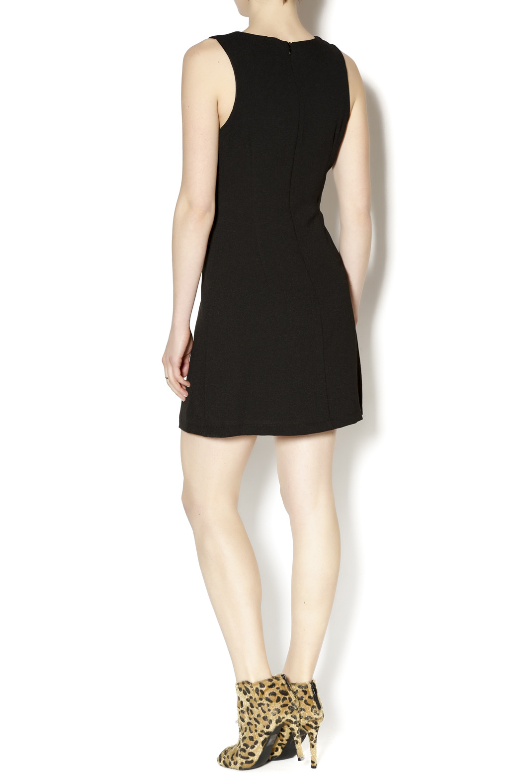 Gina Louise Little Black Dress - Side Cropped Image