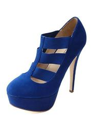 anne michelle Suede Strappy Platform-Pump - Other