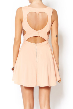 miss avenue  Peach Open Heart Dress - Alternate List Image