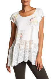 4 Love & Liberty Peplum Antique Tee - Front cropped