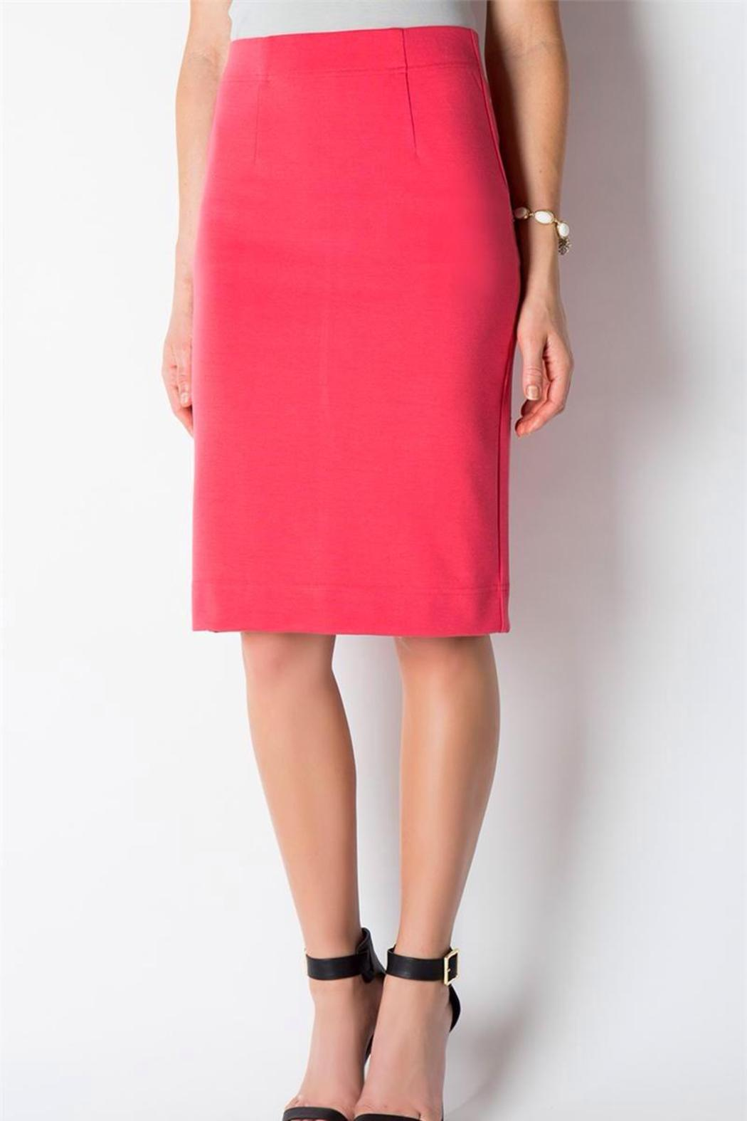 Downeast Basics Ponte Pencil Skirt - Front Cropped Image