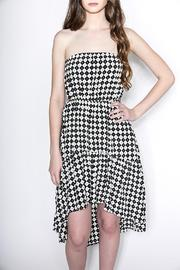 CALS Checkered Strapless Dress - Product Mini Image