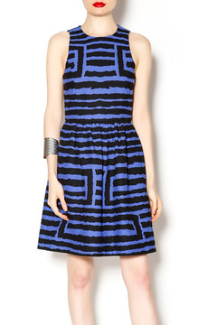4.Collective Black and Blue Pleated Dress - Product List Image