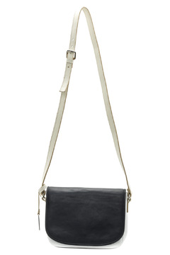 Shoptiques Product: White Navy Leather Bag