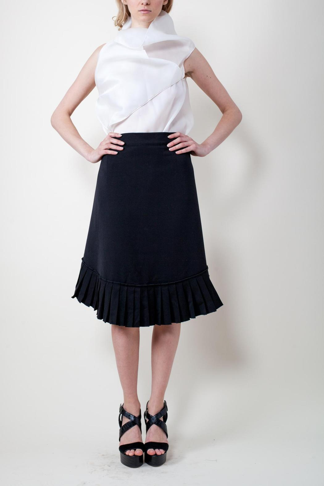 Calvin Tran Pleated Wrap Skirt - Front Cropped Image