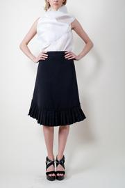 Calvin Tran Pleated Wrap Skirt - Front cropped