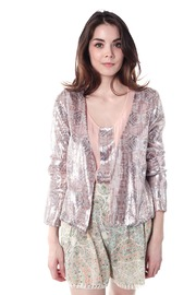 Shoptiques Product: Printed Sequin Jacket