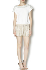 Wish Collection Sequin Track Shorts - Front full body