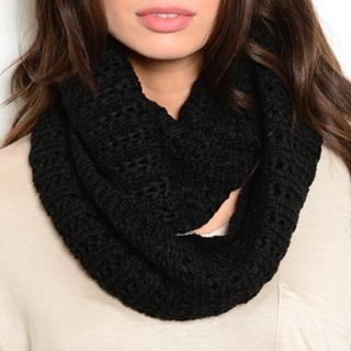 Shoptiques Product: Black Knit Infinity Scarf