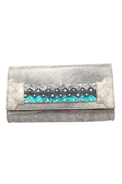 Shoptiques Product: Silver Leather Clutch
