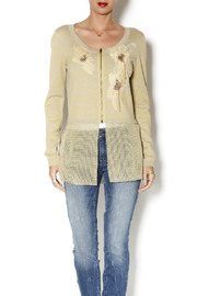 Aratta Applique Sweater Cardigan - Product Mini Image