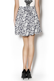 Angie Floral Swing Skirt - Back cropped
