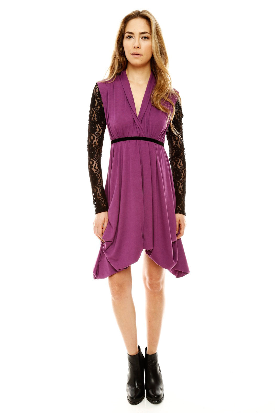 ToughLove Lace Sleeve Dress - Front Full Image