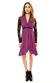 ToughLove Lace Sleeve Dress - Front full body