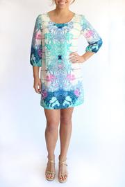 KLD Signature Printed Zippered Dress - Front cropped
