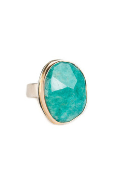 Jamie Joseph Assymetrical Amazonite Ring - Product List Image